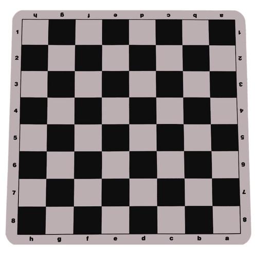 "100% Silicone Portable Tournament Chess Mat, 20"" x 20"", Black"