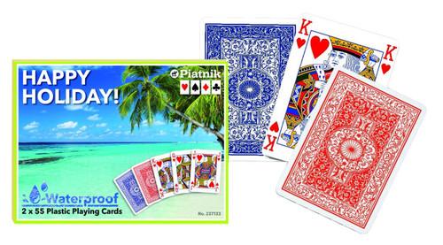 100% Plastic Waterproof - Double Deck Playing Cards by Piatnik