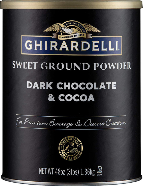 Ghirardelli Sweet Ground Dark Chocolate & Cocoa Powder - 3lb Can