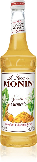 Monin Classic Flavored Syrups - 750 ml. Glass Bottle: Golden Turmeric