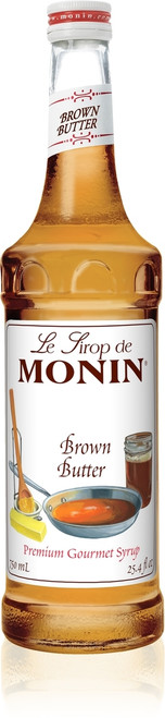 Monin Classic Flavored Syrups - 750 ml. Glass Bottle: Brown Butter