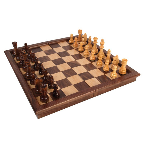 Walnut Tournament Chess Set with 3.5in King