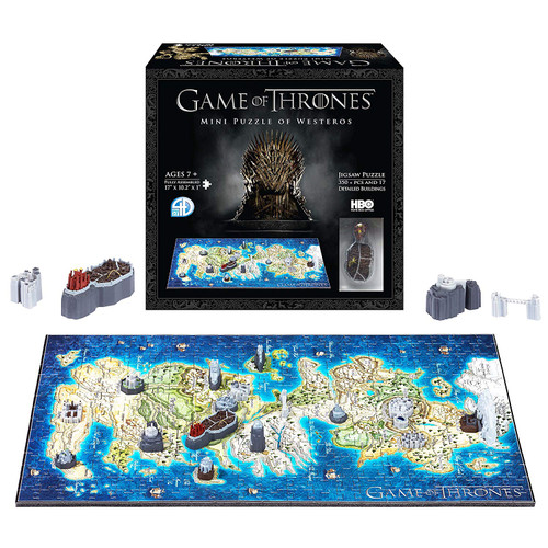 Game of Thrones: Westeros - 340pc 4D Mini Puzzle By 4D Cityscape