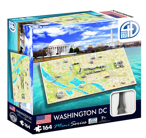 4D Mini Washington DC - 164pc 4D Mini Puzzle by 4D Cityscape