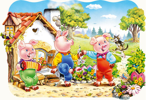 Three Little Pigs - 20pc Jigsaw Puzzle by Castorland