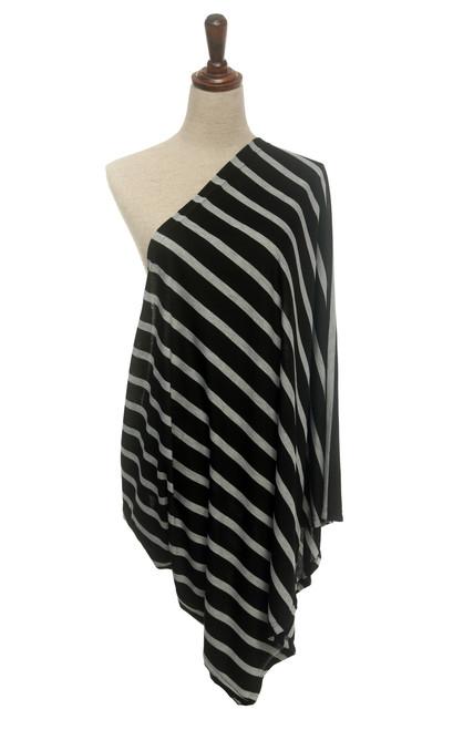Infinity Nursing Scarf, Striped Black/Grey by nGenius