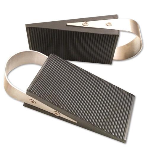 Super Door Stop Rubber & Stainless Steel Wedge, 2-Pack by nGenius