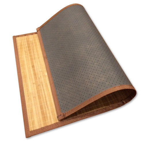 "Bamboo Non-Skid Floor Mat by Sustainable Simplicity, 24"" x 34"""