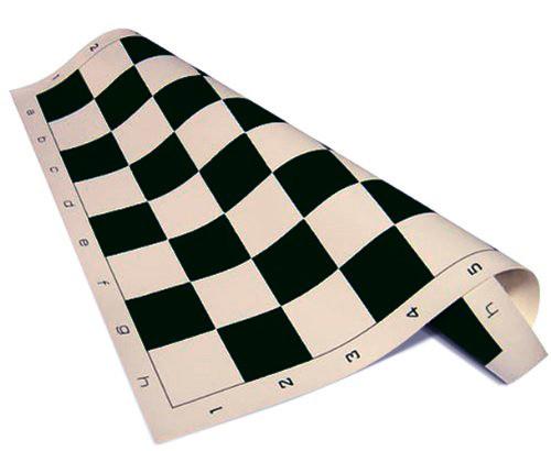 """Standard Vinyl Roll-Up Tournament Chess Mat, 20"""" x 20"""" - Black"""