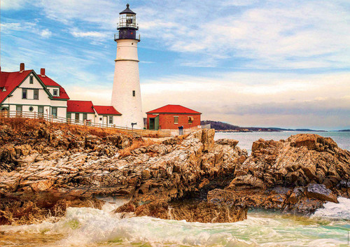 Rocky Lighthouse - 1500pc Jigsaw Puzzle by Educa