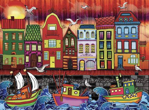 Amsterdam - 1000pc Jigsaw Puzzle by JaCaRou