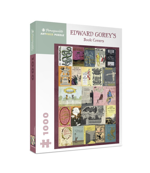 Edward Gorey's Book Covers - 1000pc Jigsaw Puzzle by Pomegranate