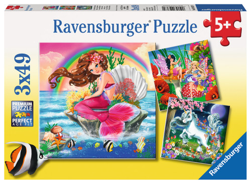 Fantasy Friends - 3x49pc Jigsaw Puzzle By Ravensburger