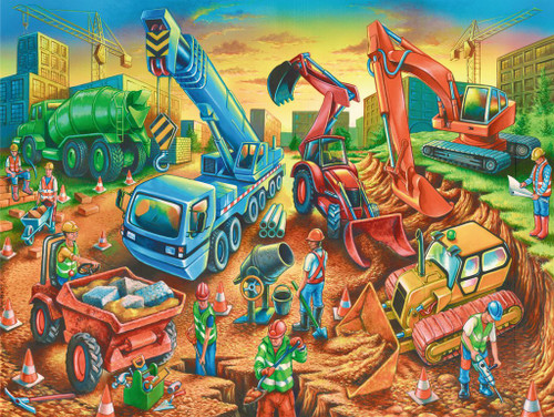 Construction Crew - 60pc Jigsaw Puzzle By Ravensburger
