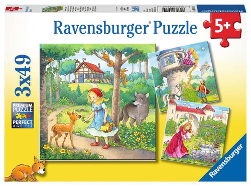 Rapunzel, Red Riding Hood, Frog King - 3x49pc Multipack Jigsaw Puzzle By Ravensburger