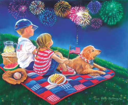 Fireworks Finale - 300pc Jigsaw Puzzle by Sunsout