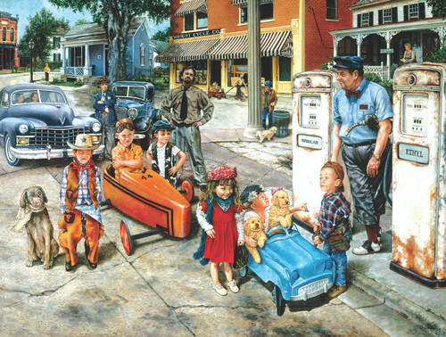 Gassing Up - 500pc Jigsaw Puzzle By Sunsout