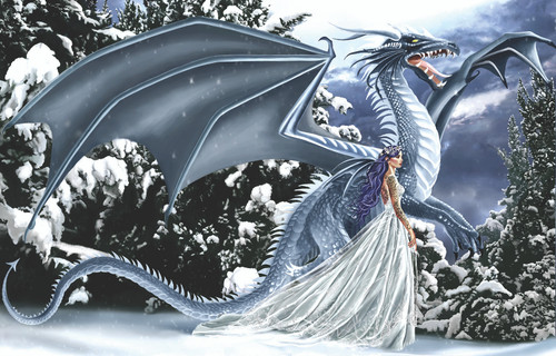 Nene Thomas: Ice Dragon - 1000pc Jigsaw Puzzle By Sunsout