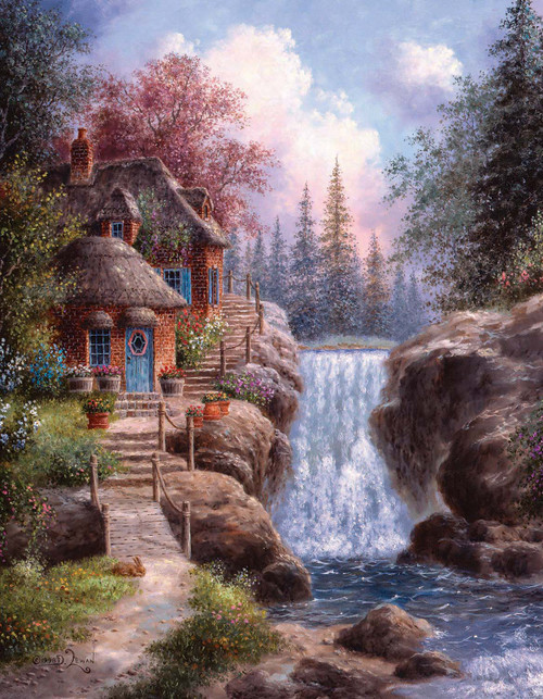 Tranquil Scene - 35pc Large Format Jigsaw Puzzle By Sunsout