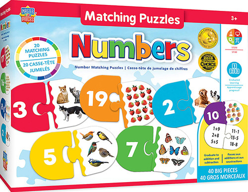 Numbers - 40pc Educational Matching Puzzle by Masterpieces