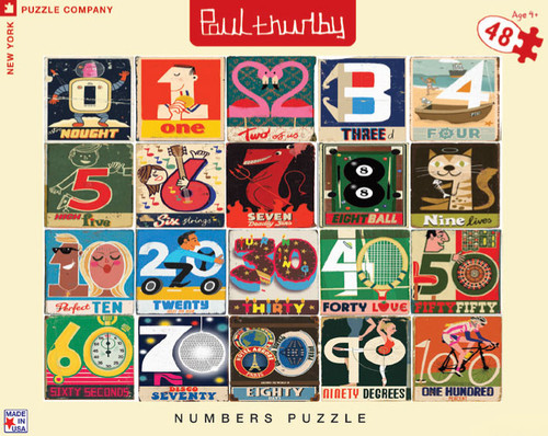 Numbers Puzzle - 48pc Floor Puzzle by New York Puzzle Company