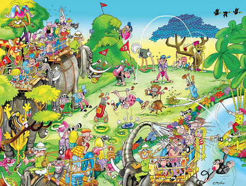 Comic Capers: Golf Safari - 300pc Large Format Jigsaw Puzzle by Ceaco