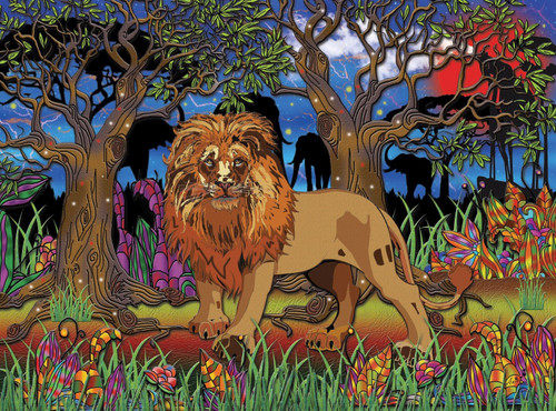 Lion's Heart - 1000pc Jigsaw Puzzle by JaCaRou