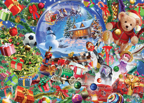 Snow Globe Dreams (Glitter) - 500pc Jigsaw Puzzle by Masterpieces