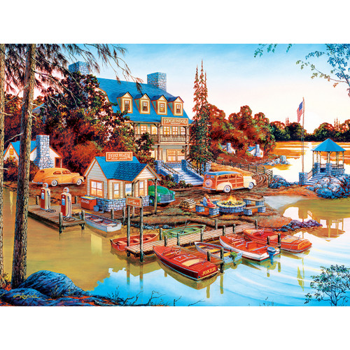 Country Escapes: Peaceful Easy Evening - 500pc Jigsaw Puzzle by Masterpieces