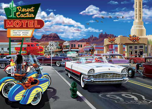 Cruisin' Rt66: Drive Through on Rte. 66 - 1000pc Jigsaw Puzzle by Masterpieces