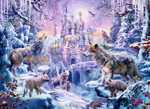 Castle Wolves - 500+pc Large Format Jigsaw Puzzle By Sunsout
