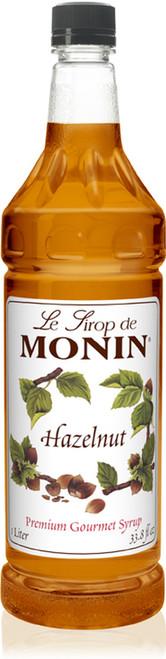 Monin Classic Hazelnut Syrup - 1L Plastic Bottle