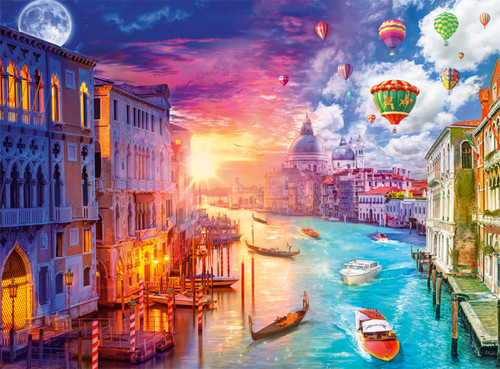 Day to Night: Venice, City on Water - 1000pc Jigsaw Puzzle by Buffalo Games