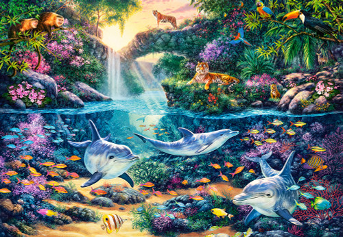 Jungle Paradise - 1500pc Jigsaw Puzzle By Castorland