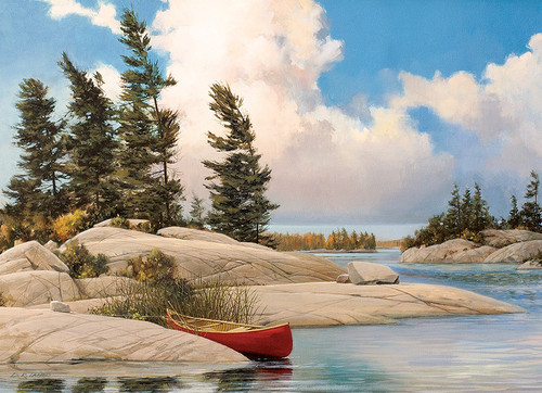 A Day at the Lake - 500pc Jigsaw Puzzle By Cobble Hill