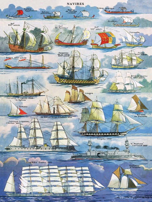 Navires ~ Ships - 1000pc Jigsaw Puzzle by New York Puzzle Company