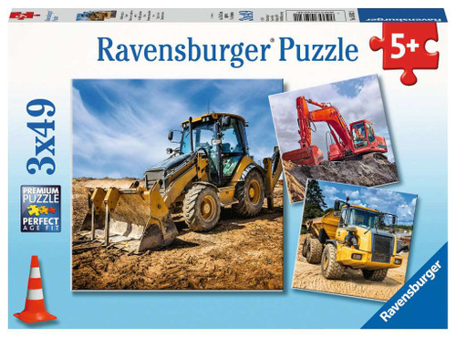 Diggers at Work - 3x49pc Multipack Jigsaw Puzzle By Ravensburger