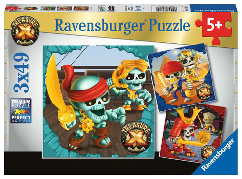 Treasure X - 3x49pc Jigsaw Puzzle By Ravensburger