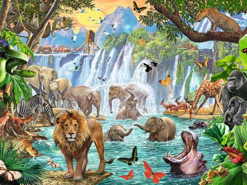 Waterfall Safari - 1500pc Jigsaw Puzzle By Ravensburger