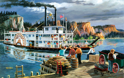 Riverboat - 300pc Large Format Jigsaw Puzzle By Sunsout