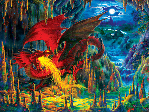 Fire Dragon of Emerald - 500pc Jigsaw Puzzle By Sunsout