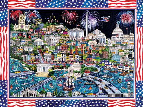 Fireworks over Washington DC - 1000pc Jigsaw Puzzle By Sunsout