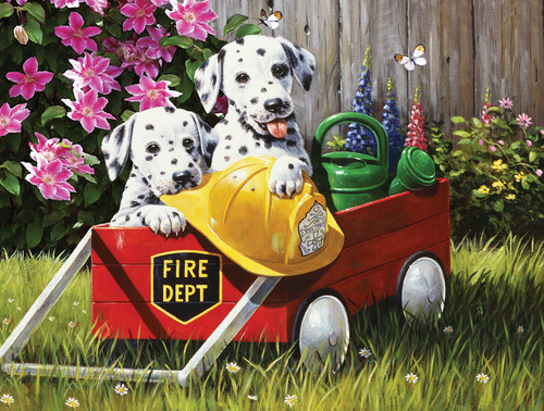 Fire Waggin' - 35pc Jigsaw Puzzle By Sunsout