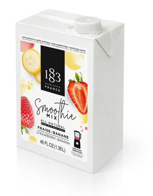 1883 Smoothie Mix - 46oz Carton: Strawberry Banana