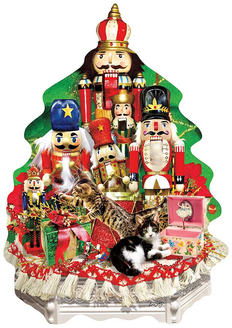 A Nutcracker Christmas - 1000pc Shaped Jigsaw Puzzle By Sunsout