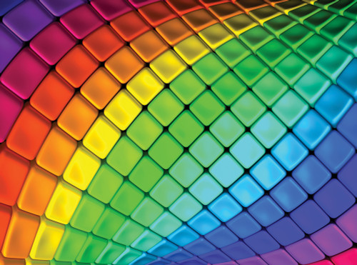 Rainbow Tiles - 1000pc Jigsaw Puzzle By Serious Puzzles