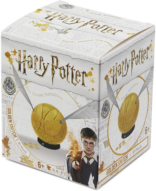 3in Harry Potter Snitch - 3d 64pc Jigsaw Puzzle by 4D Cityscape