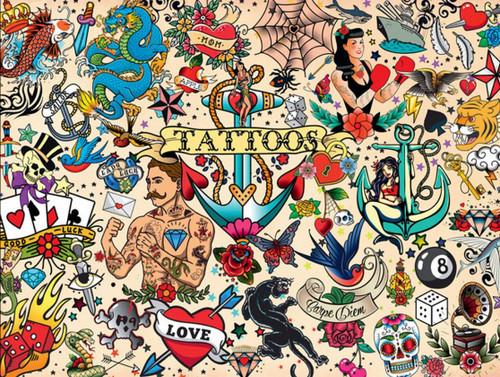 Tattoopalooza - 1500pc Jigsaw Puzzle by Buffalo Games