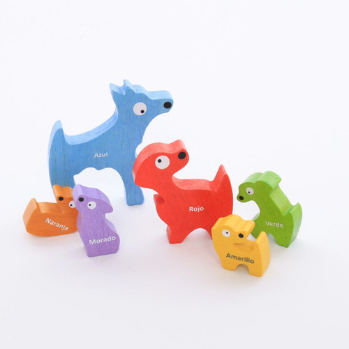 Dog Family - EcoFriendly Wooden Puzzle