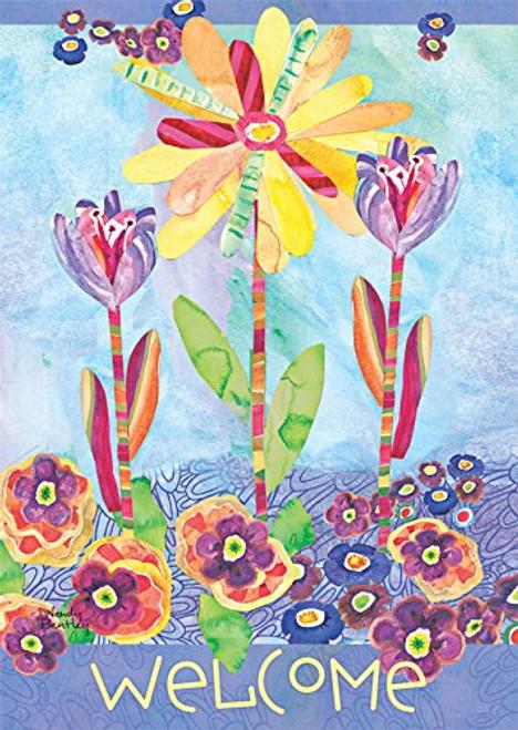 Flower Burst - Large Garden Flag by Lang